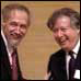 Alain Connes and Arthur Jaffe on 24 May 2000 at the Coll�ge de France in Paris, where Arthur announced the $7million Millennium Prize in Mathematics